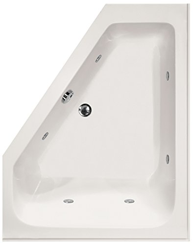 Hydro Systems COU6048ACO-WHI-LH-WOV.WHI Courtney Acrylic Tub with Combo System (Drain Included), White