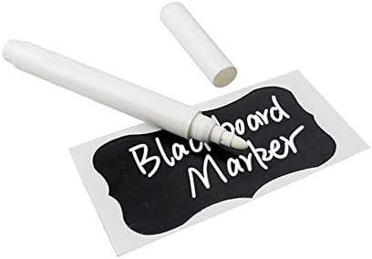DUHUANG 1/5/10 Stück Zeichnung Tafel Fenster Metall Kunststoff Stift weiß Flüssigkreide Kreidetafel Marker, Schwarz, 10 Stück