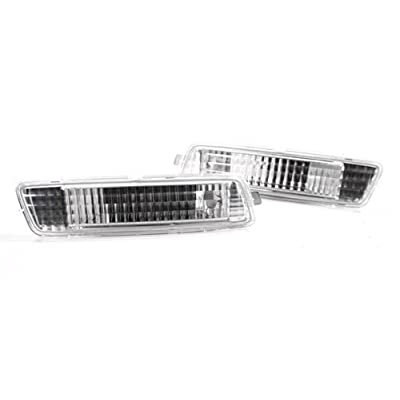 TopPick 1K9945071-1K9945072-C1 Bumper Reflector Lights FOR VW Volkswagen MK6 Golf Jetta Sportwagen 2010-2014 Clear/Chrome: Automotive