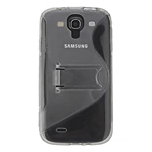 Simple S Line Stand PC and TPU Case for Samsung S4 I9500 , Black