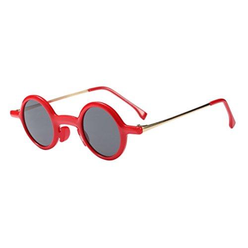 Visión de Personalidad Roviding Sol Mujeres Claridad de Gafas Red Moda Redondo Marco de Zhhlaixing para Gran 6Wgavx