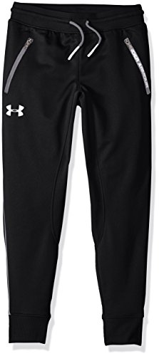 Under Armour Boys' Pennant Tapered Pant, Black/White, Youth ()