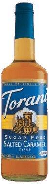Torani Sugar Free Salted Caramel Syrup, 12.7 Fluid Ounce -- 6 per case. (Sweet Salted Sauce)