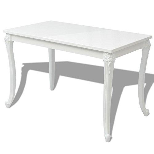 Festnight High Gloss Rectangular Dining Table for Home Decor, 47.2