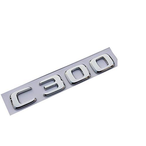 (New Chrome ABS Rear Trunk Letters Badge Badges Emblem Emblems Sticker C300 2017 2019 (Shiny silver))