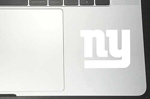 New York Giants (Pack of 2) Vinyl Sticker Decals for Car Bumper Window MacBook Laptop [White, 12