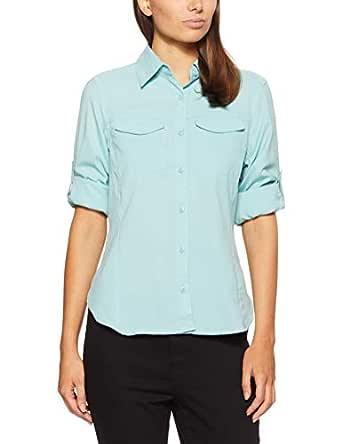 Columbia Women's Silver Ridge Lite Long Sleeve Shirt, Aqua Haze, Small