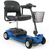 Pride Mobility GO-GO Elite Traveller Plus 4-wheel Electric Travel Scooter SC54 with FREE Cup Holder and Rear Basket