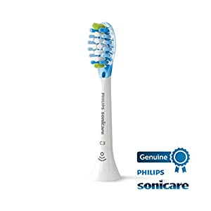 Philips Sonicare Protective Clean 6100 White and 2 pack Premium Plaque Control Brush Head Bundle (Color: White)