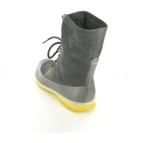 ECCO - Botas de cuero para mujer gris
