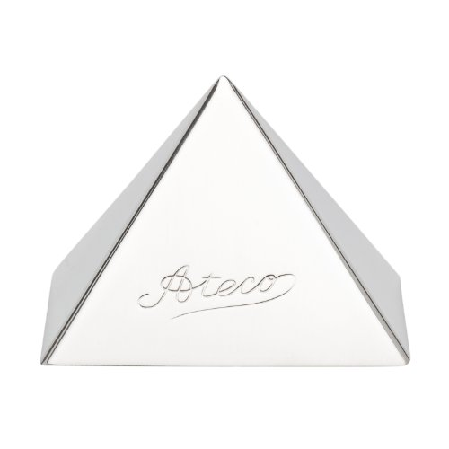 Perfecting Mousse - Ateco 4935 Stainless Steel Small Pyramid Mold, 2.25 by 1.5-Inches High