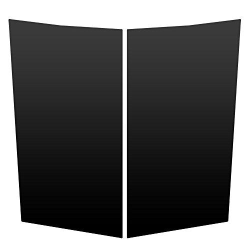 Auto Vynamics - CGM-102-MBLA - Matte Black Vinyl Hood Decal Kit - Chevrolet / Chevy / GMC Silverado / Sierra Pickup & Fullsize SUV - Mirrored Pair - (2) Piece Complete Kit - Silverado Pickup Hood