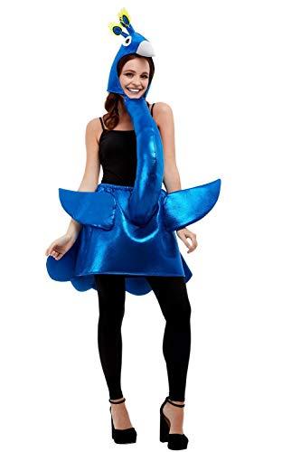 Smiffys 47137 Deluxe Peacock Costume, Unisex Adult, Blue