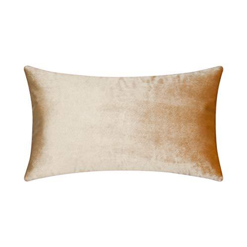 Bronze Pillow - HOME BRILLIANT Spring Luxury Velvet Oblong Rectangular Throw Pillow Cover Cushion Cover for Sofa Living Room Wedding Lounge Party, 12