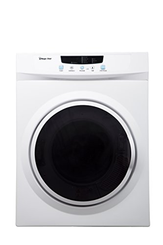 Price comparison product image Magic Chef MCSDRY35W 3.5 cu. ft. Laundry Dryer, White