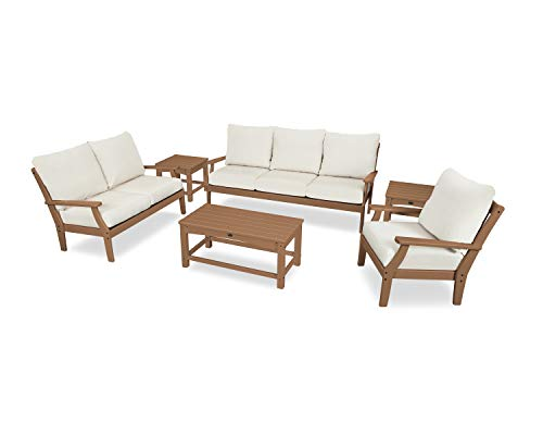 (Trex Outdoor Furniture Yacht Club Deep Seating Set, Tree House/Bird's Eye)