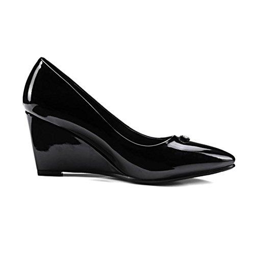 Mujer De Llp Individuales Porciones Altos Boda Tacones Black Zapatos Sww6qExz1