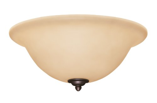 (Emerson Ceiling Fans LK72BQ Amber Scavo Glass Light Fixture with Barbeque Black Bowl Caps)