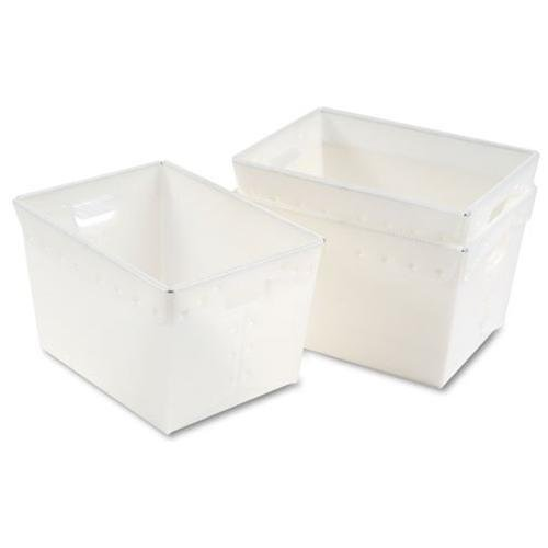 Mailflow Systems - Mayline Kwik-file Mailflow-to-go Mail Tote - 3 pack - 11.5 Height X 13.3 Width X 18.3 Depth External Dimensions - Polyethylene - White