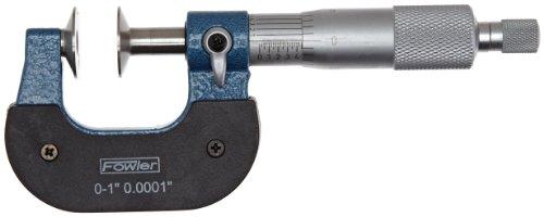 Fowler 52-250-111-1 Inch Disc Micrometer, 0-1