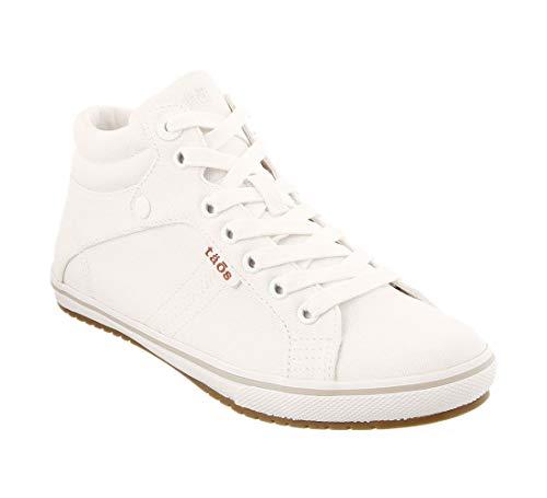 Taos Footwear Women's Top Star White Canvas Sneaker 7 M US