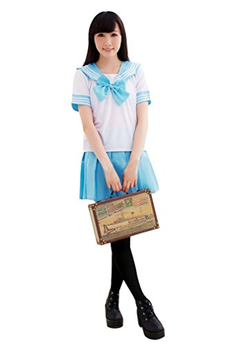 anime blue dress - 6