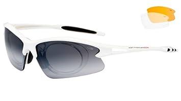 Radbrille Sportbrille mit Wechselgläsern und Optik-Clip Goggle E865 MMjLdO