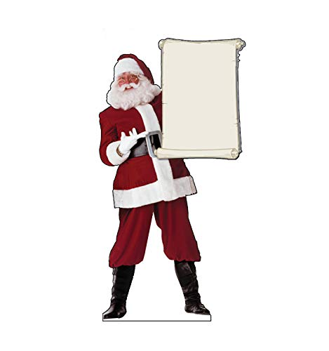 Advanced Graphics Santa Claus with Scroll Life Size Cardboard Cutout Standup]()