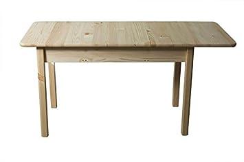 Massivholz Esstisch 120x60 Cm Kiefer Ausziehbar Auf 150 Farbe