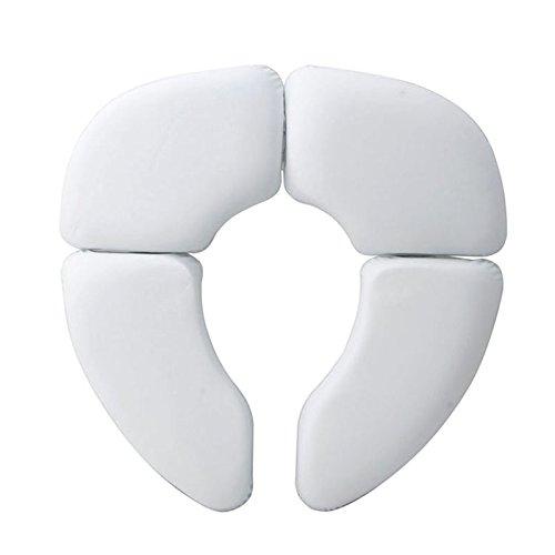 SODIAL Potty portatil Cojin de la Almohadilla del cojin Plegable Bebe Asiento de Inodoro del Bebe Soft Training Asiento de Inodoro de Bebe Orinal Bebe