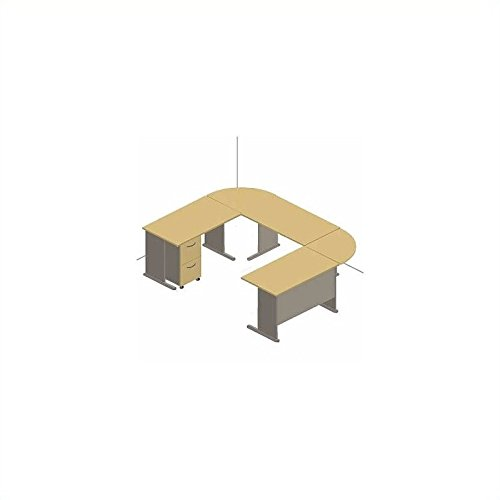 Grey Advantage Corner Desk - Bush Furniture Series A Beech and Grey Advantage U-Shaped Desk