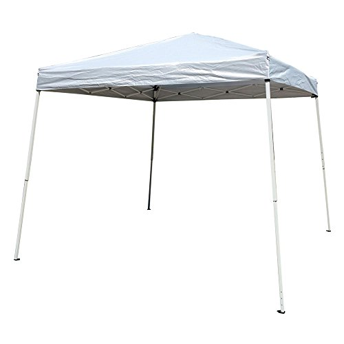 Valuebox Folding Wedding Party Tent Outdoor Pop Up Canopy Portable Shade Instant Gazebo Beach with Carry Bag,8.2'x 8.2'/10'x 10' White/Bule (8.2×8.2Ft, White)