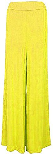 vase 44 Pantalon Palazzo dames Nouveau jambes pantalons larges Mustard Panama36 657pq