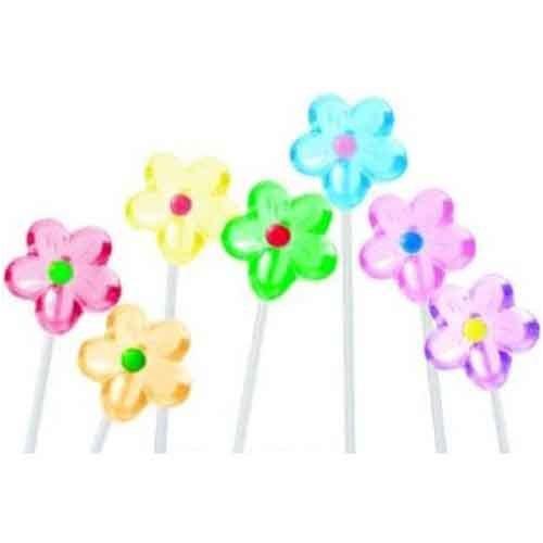 FLOWER ASSORTED COLOR LOLLIPOPS