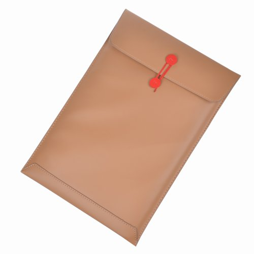 Case Star Light Brown 13-inch Synthetic Leather Laptop Notebook Computer MESSENGER/Porfolio/Envelope Case/Bag/Sleeve for Macbook Air 13-inch A1370 and Other Brands 13-inch Ultrathin Notebook Laptop