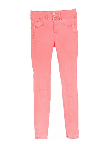 Rosa Double Jean Up 17 Fluor Taille Couleurs Une Mujer Tiffosi ZwqTp8