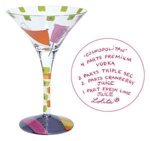 Lolita Painted Glassware-Lolita - Cosmopolitan Martini Glass - Bnib ()