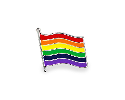 Rainbow Flag Pin - Gay Pride Rainbow Flag Pin in a Bag - Support LGBTQ Causes (1 Pin - Retail)