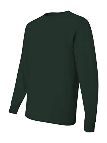 Jerzees 50/50 Long Sleeve T-Shirt - FOREST GREEN - X-Large
