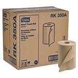 SCA TISSUE NORTH AMERICA LLC RK350A Hard-Roll Towels, Natural, 7 7/8 Wide x 350ft, 5.5 dia, 12 Rolls/Carton