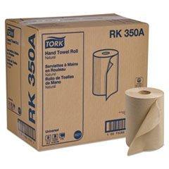 North America Paper Towel - SCA TISSUE NORTH AMERICA LLC RK350A Hard-Roll Towels, Natural, 7 7/8 Wide x 350ft, 5.5 dia, 12 Rolls/Carton