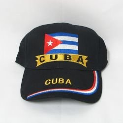 embroidered baseball cap cuba sports