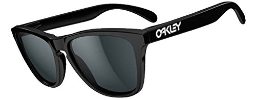 Oakley Frogskins Sunglasses (Matte Black Frame Polarized Black Mirror - Skin Frog Oakley