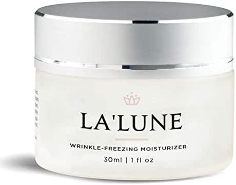 LA'LUNE Premium Wrinkle Freezing Moisturizer for Firm Skin Structure, Day and Night Ultimate Luxury Revitalizing Cream- Age Defying Spa, 1oz / 30ml