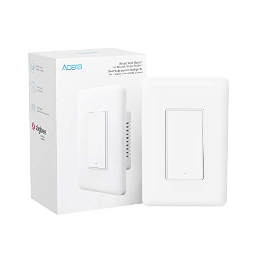 Aqara Smart Light Switch (No Neutral, Single Rocker), Requires AQARA HUB, Zigbee Switch, Remote Control and Set Timer…