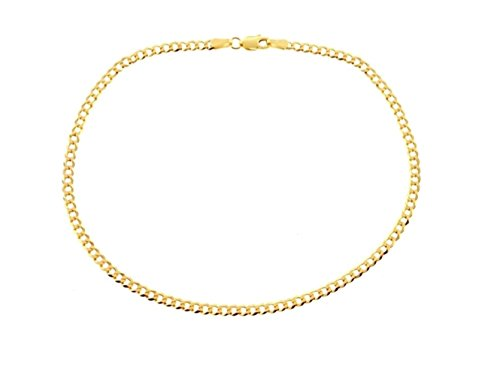 Certified Jewelry 14K Gold Filled Cuban Anklets Available in 9.5