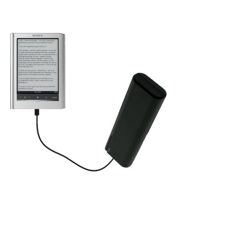 Gomadic Portable AA Battery Pack designed for the Sony PRS650 Reader Touch Edition - Powered by 4 X AA Batteries to provide Emergency charge. Built using TipExchange Technology by Gomadic