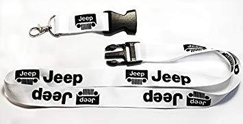TGH (LanJeepW Lanyard Llavero con Logo Jeep Color Blanco ...