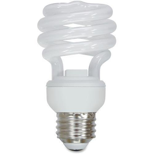 (86256 GE Spiral 13W Compact Fluorescent T2 Bulb - Spiral - Soft White - 13 W - 120 V AC - E26 - 10 / Carton)