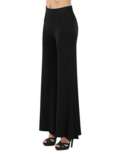 SEUEYD-Womens-Comfy-Chic-Palazzo-Lounge-Pant-Wide-flare-Leg-Stretchy-Pants